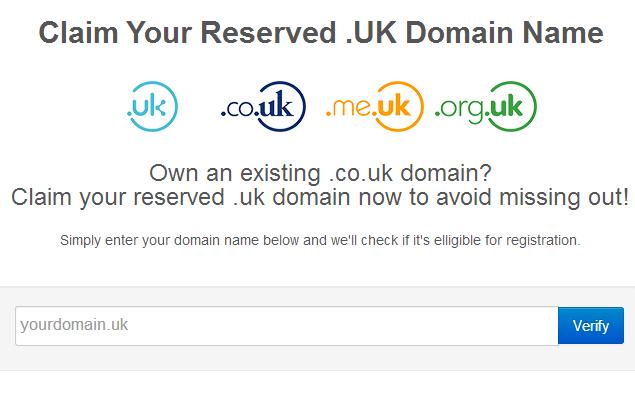 Claim you .UK Domain through Havenswift Hosting