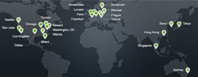 CloudFlare Data Centre Locations