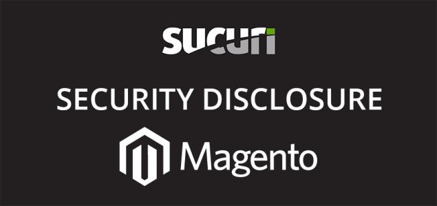 Sucuri Disclosure of Magento Vulnerability