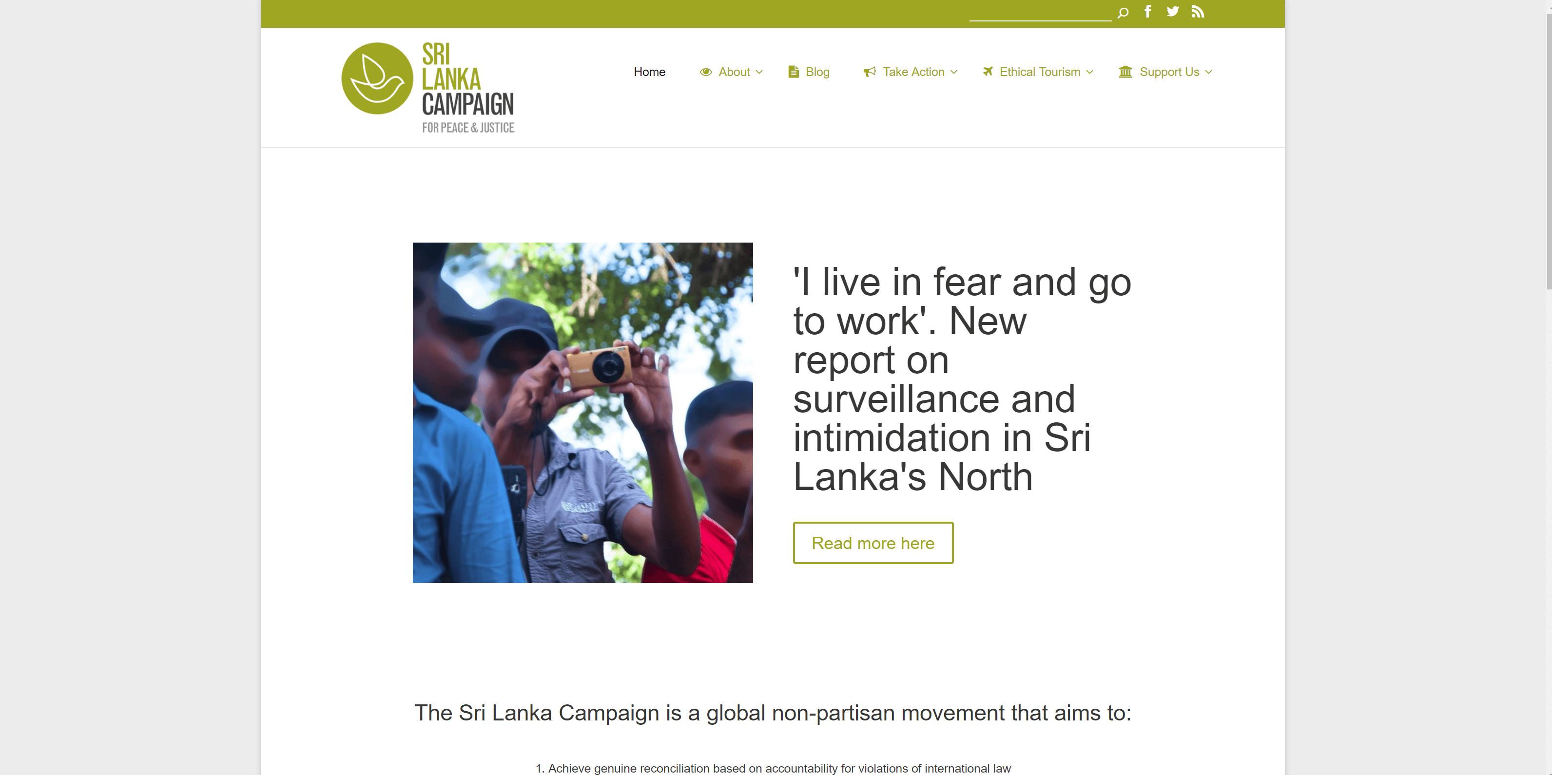 Sri Lanka Campaign Charity